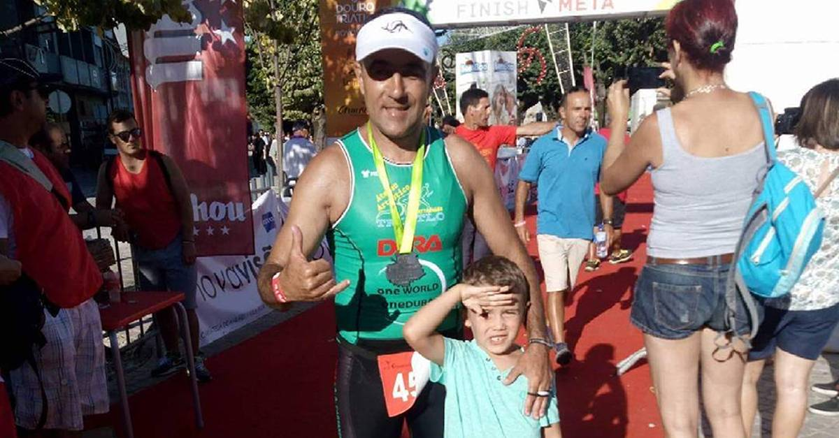Paulo Calixto, vencedor do passatempo Setúbal Triathlon