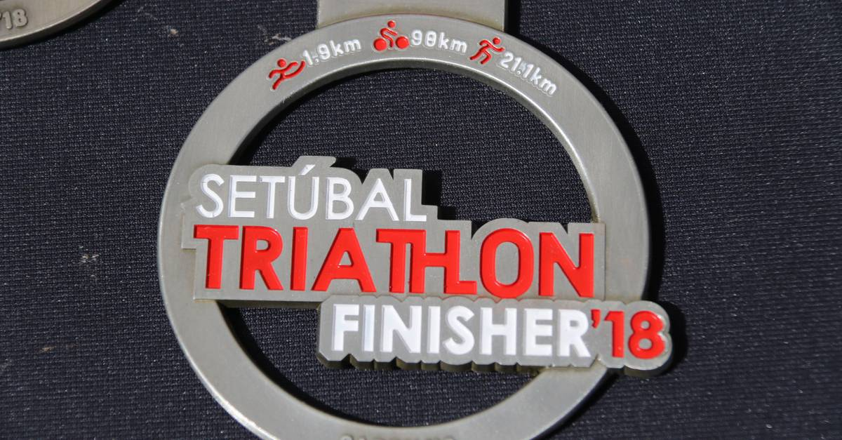 Medalha de Finisher do Setúbal Triathlon