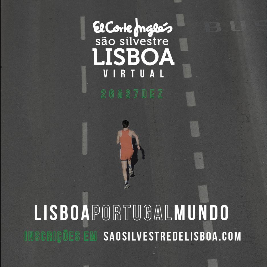 A 13ª edição da El Corte Inglés São Silvestre de Lisboa realiza-se de forma virtual.